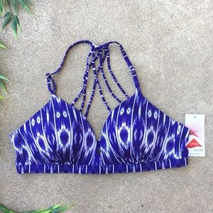 Athleta Printed Strappy Bikini Top